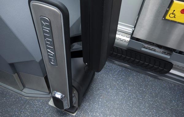 QUANTUM integrated backrests feature