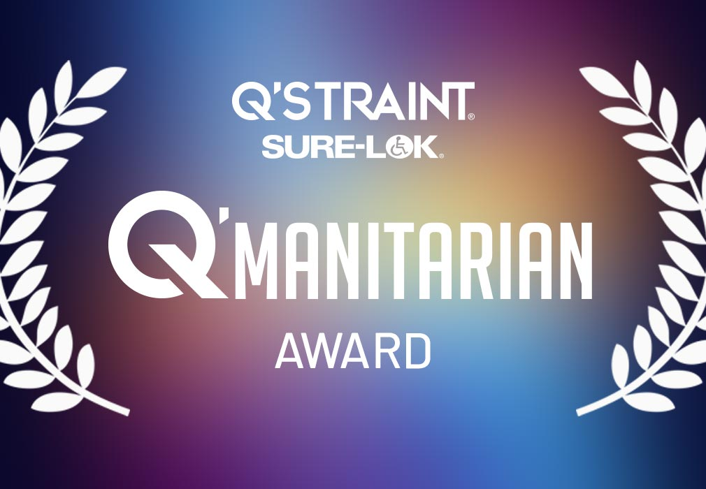 Q'STRAINT & Sure-Lok Announce the Winner of Inaugural Q'MANITARIAN Award